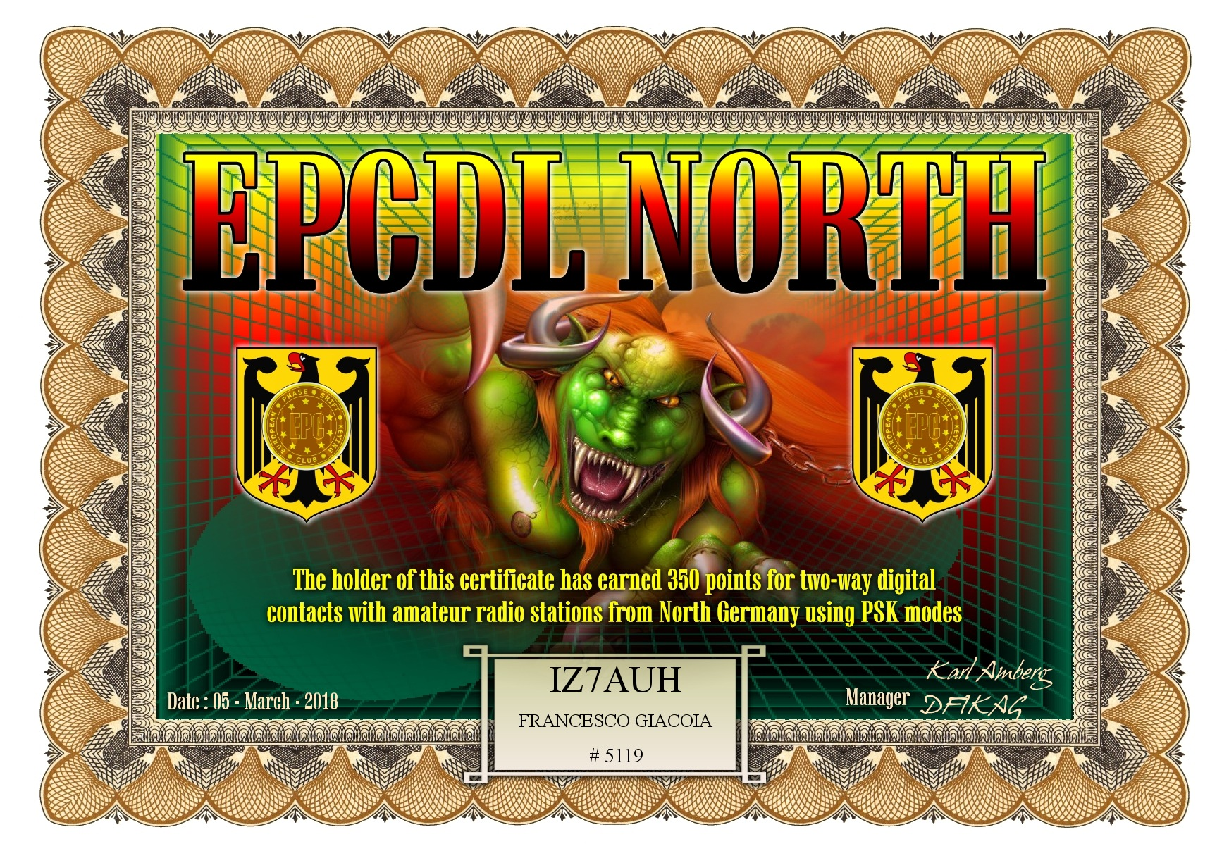 IZ7AUH-EPCDL-NORTH